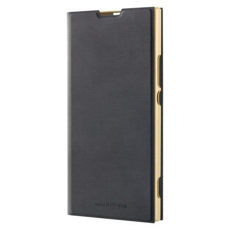 Roxfit Sony Xperia XA2 Ultra Slim Standing Book Case - Gold / Black