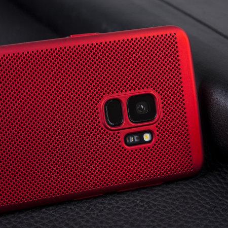 Olixar MeshTex Samsung Galaxy S9 Case - Brazen Red