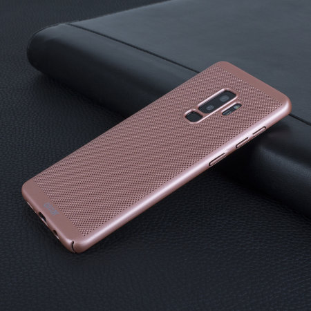 buy popular 667a7 4d632 Olixar MeshTex Samsung Galaxy S9 Plus Case - Rose Gold