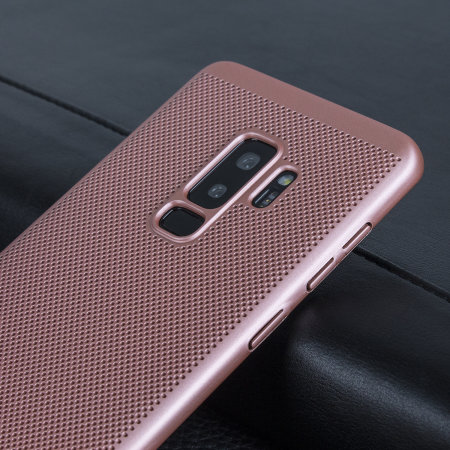 Olixar MeshTex Samsung Galaxy S9 Plus Case - Rose Gold