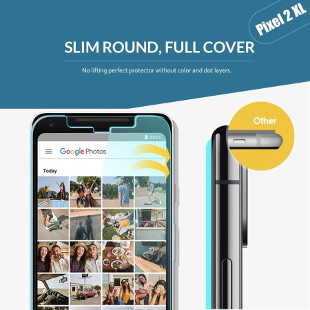 Whitestone Dome Glass Google Pixel 2 XL Full Cover Skjermbeskytter