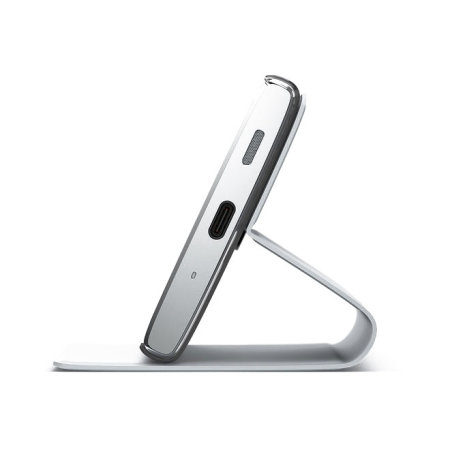 Official Sony Xperia XA2 Style Cover Stand Case - Silver