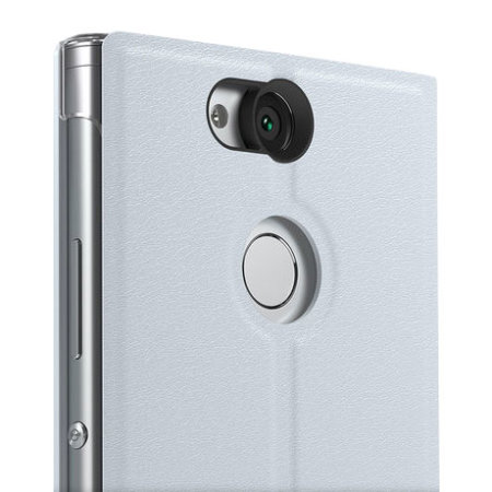 Official Sony Xperia XA2 Ultra Style Cover Stand Case - Silver