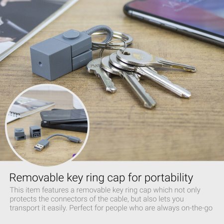 Urbanears The Tenacious Lightning Cable Key Chain Charger - Grey