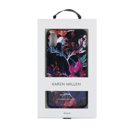 karen millen iphone x floral tpu shell case - black
