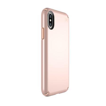 speck presidio metallic iphone x tough case - rose gold