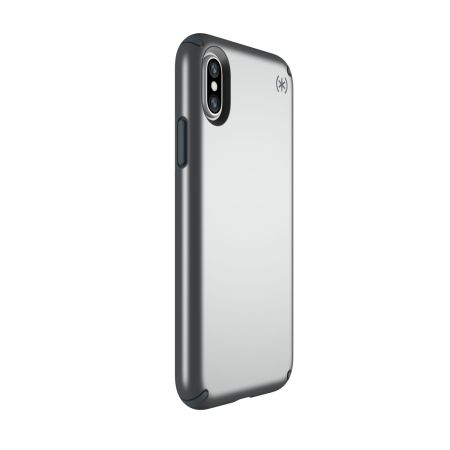 speck presidio metallic iphone x tough case - stormy grey