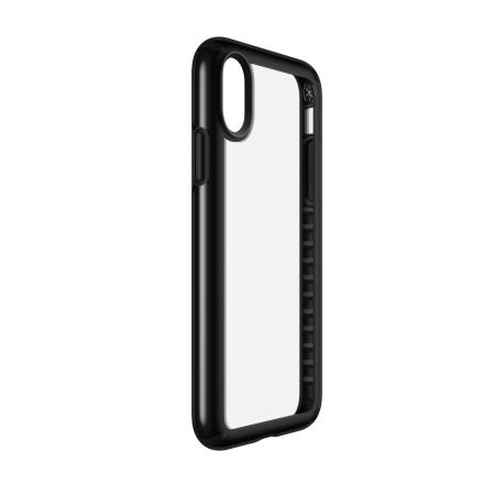 speck presidio show iphone x protective case - clear / black