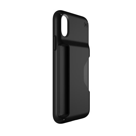 speck presidio wallet iphone x tough case - black