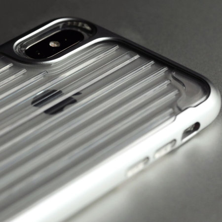 kajsa trans-shield collection iphone x case - clear / silver