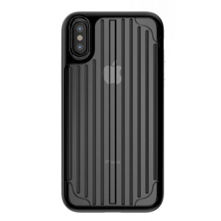kajsa trans-shield collection iphone x case - clear / black