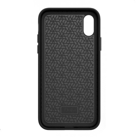 kajsa outdoor collection iphone x wooden pattern case - black / grey