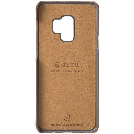 cheap for discount ebb93 13b3d Krusell Sunne 2 Card Samsung Galaxy S9 Leather Case - Cognac