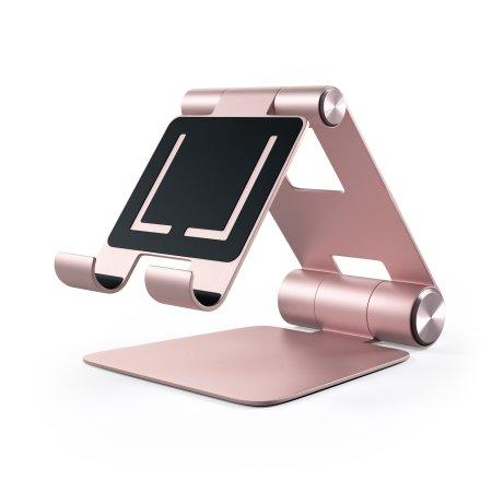 Satechi R1 Universal Aluminium Hinge Holder Foldable Stand - Rose Gold