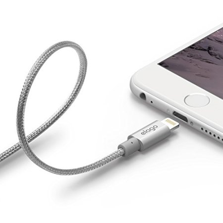 Elago Aluminium Braided MFi Lightning Cable 1M  - Silver