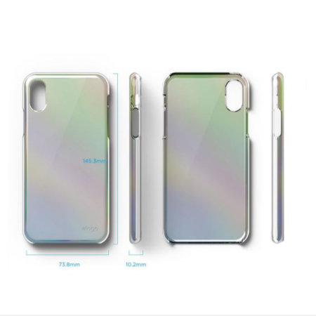 elago slim fit 2 iphone x case - rainbow