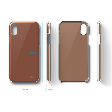elago slim fit 2 iphone x case - rose gold