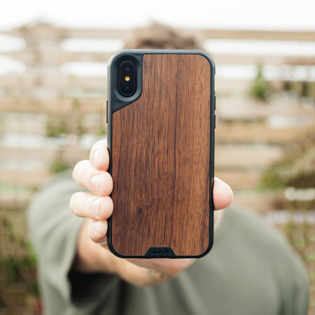 Mous Limitless 2.0 iPhone X Real Wood Tough Case - Walnut