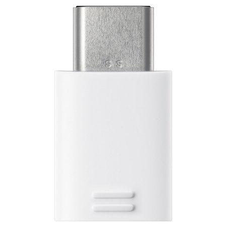 Adaptador oficial Samsung Galaxy S9 Micro USB a USB-C - Blanco