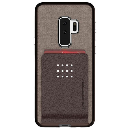 Ghostek Exec 2 Samsung Galaxy S9 Plus Tough Wallet Case - Brown