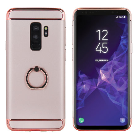 arrives e9486 9b0bf Olixar XRing Samsung Galaxy S9 Plus Finger Loop Case - Rose Gold