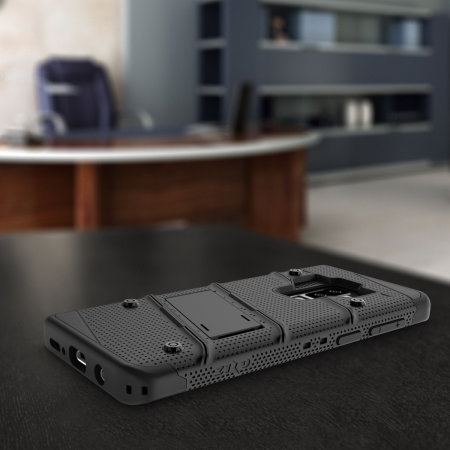 Zizo Bolt Samsung Galaxy S9 Plus Tough Case & Screen Protector - Black