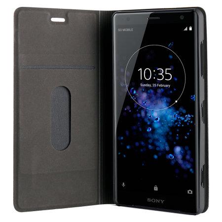 Roxfit Sony Xperia XZ2 Slim Standing Book Case - Black