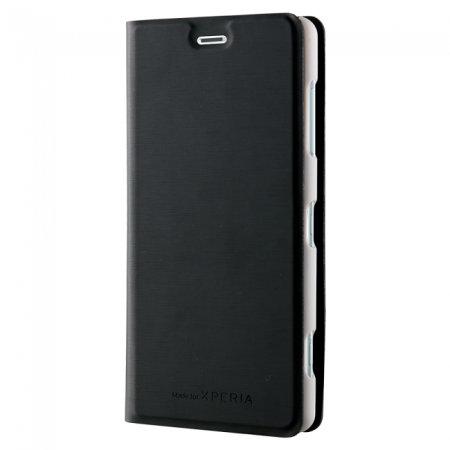 Funda Xperia XZ2 Compact Slim Standing Book de Roxfit - Plata / Negra