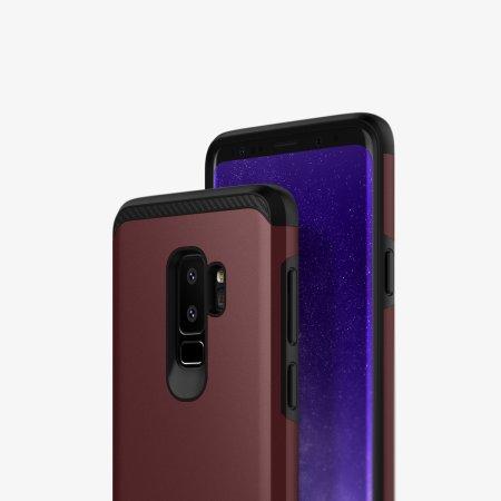 Caseology Legion Series Samsung Galaxy S9 Plus Tough Case - Burgundy