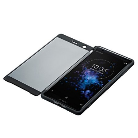 Official Sony Xperia XZ2 SCTH40 Style Cover Touch Case - Black
