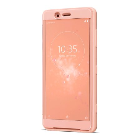 Official Sony Xperia XZ2 Compact SCTH50 Style Cover Touch Case - Pink