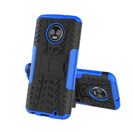 Olixar ArmourDillo Motorola Moto G6 Plus Protective Case - Blue