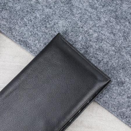 Olixar Primo Genuine Leather Nokia 7 Plus Pouch Wallet Case - Black