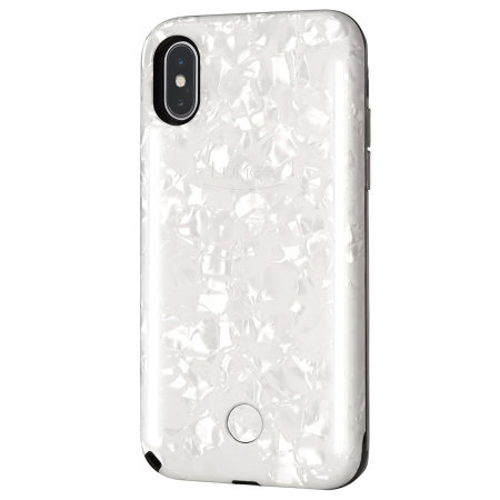 newest 92e29 1d8c7 LuMee Duo iPhone X Double-Sided Lighting Case - Pearl White
