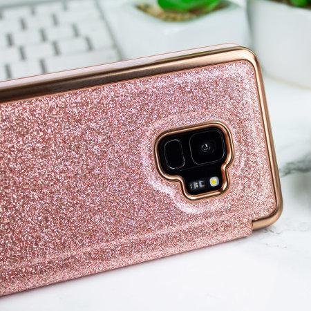 Ted Baker Mirror Folio Samsung Galaxy S9 Skal - Rosé Guld