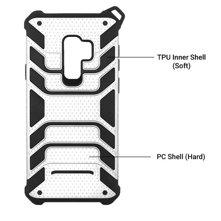 Olixar Laminar Samsung Galaxy S9 Plus Lanyard Case - Silver