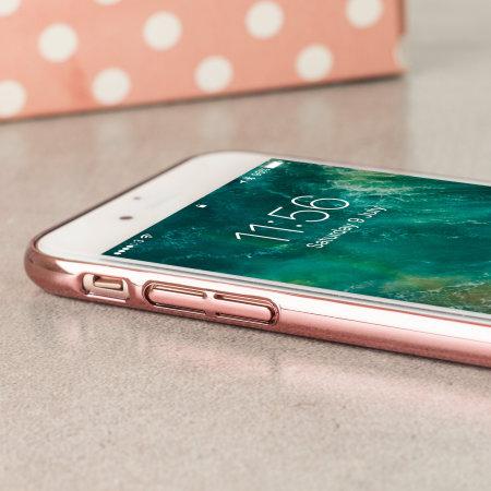 Rose Gold Unique Glitter Polka Dot iPhone 7 Case