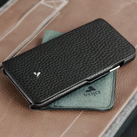 Vaja Agenda MG iPhone 8 Plus Premium Leather Flip Case - Black