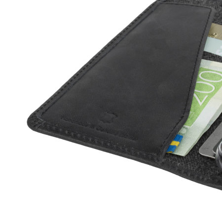 krusell sunne 4 card iphone x folio wallet case - vintage black