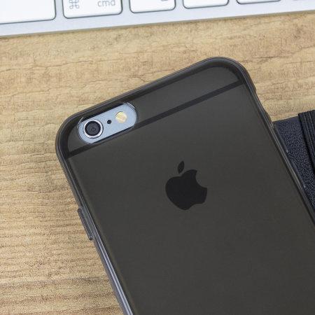 olixar flexishield iphone 6 case - smoke black