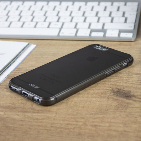 olixar flexishield iphone 6 case - smoke black