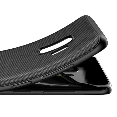 Samsung Galaxy S9 Carbon Fibre Case - Black - Olixar