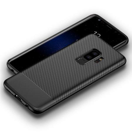 Olixar Carbon Fibre Samsung Galaxy S9 Plus Case - Black