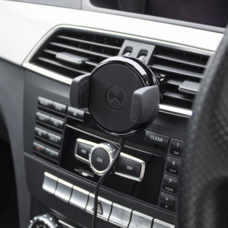 Pama iPhone X Qi Wireless Charging Car Vent Holder - Black