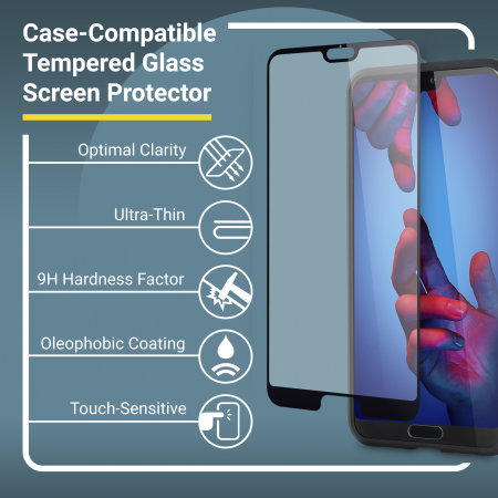 Olixar Sentinel Huawei P20 Case and Glass Screen Protector