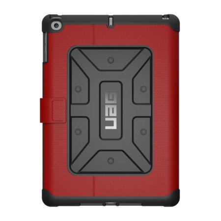 UAG Metropolis Rugged iPad 9.7 2018 Wallet Case - Magma Red