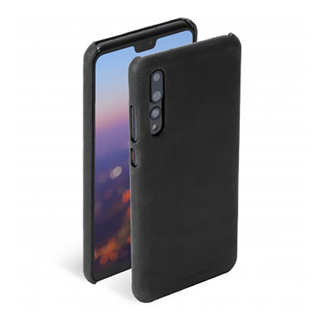 Krusell Sunne Huawei P20 Pro Slim Premium Leather Cover Case - Black