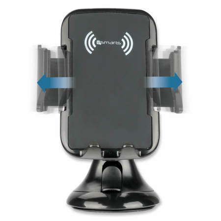 4smarts VoltBeam Grip 9W Wireless Fast Charging Car Holder - Black
