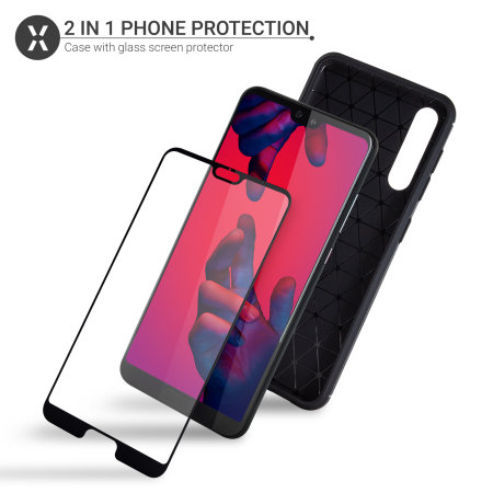 Olixar Sentinel Huawei P20 Pro Case and Glass Screen Protector