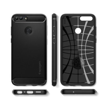 best value d8a48 08a07 Spigen Rugged Armor Huawei P Smart 2018 Case - Black